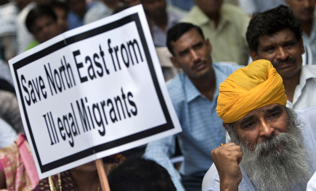 A protest against illegal immigrants