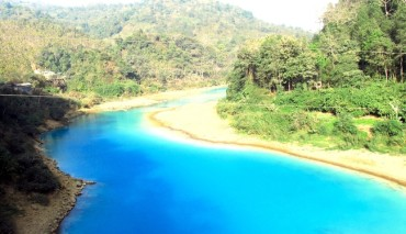 Rivers Turn Blue in Meghalaya