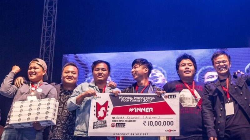Mizo band  Avora Records win Hornbill Rock Contest title